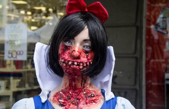 snow white zombie | scary girl costume